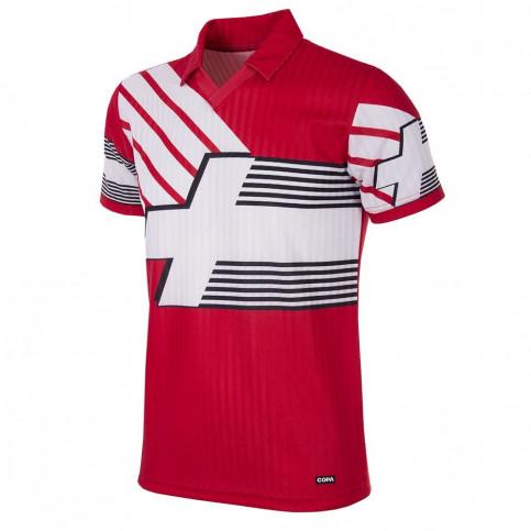 Switzerland 1990 - 92 Short Sleeve Retro Football Shirt