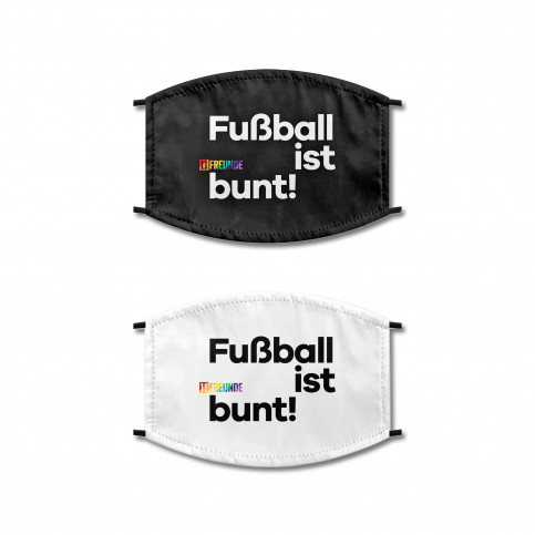 Fußball ist bunt Maske - Behelfsmaske von 11FREUNDE