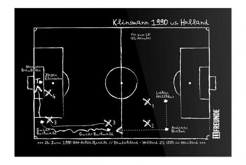 Magnettafel: Klinsmann 1990 - 11FREUNDE SHOP