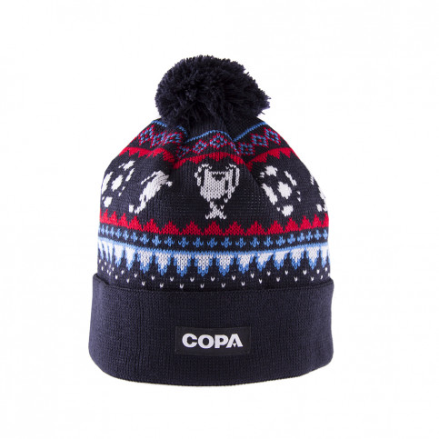 Nordic Knit Beanie | Navy Blue-Red-Blue-White