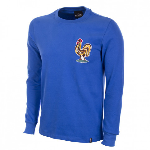 France 1970's Long Sleeve Retro Football Shirt