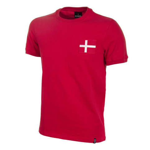 Denmark 1970's Short Sleeve Retro Football Shirt
