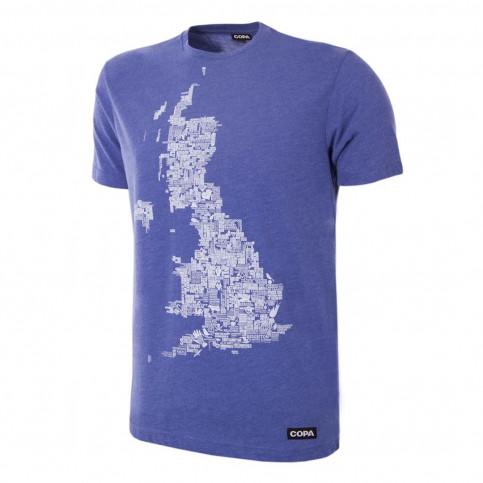 UK Grounds T-Shirt | Blue Mêlée 100% cotton