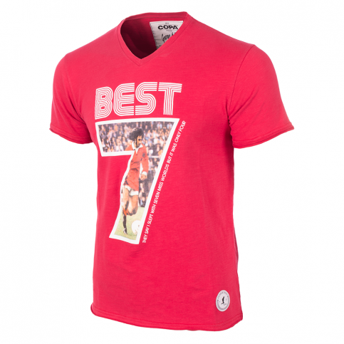 George Best Miss World V-Neck T-Shirt