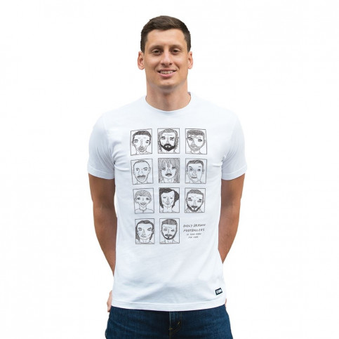 Badly Drawn Footballers T-Shirt | White