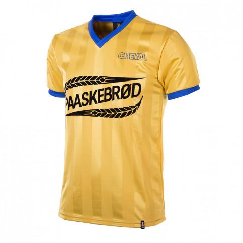 Brøndby IF 1980's Short Sleeve Retro Football Shirt