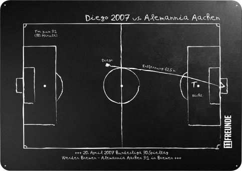 Magnettafel: Diego 2007 - 11FREUNDE SHOP