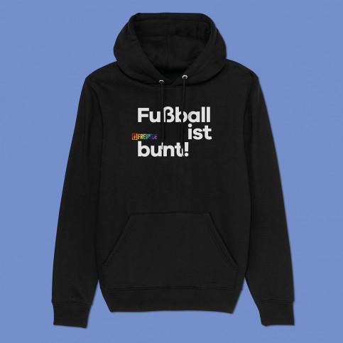 Hoodie - Fußball ist bunt (Fairwear & Bio-Baumwolle) | 11FREUNDE Textil