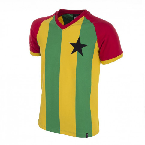 Ghana 1980's Short Sleeve Retro Football Shirt