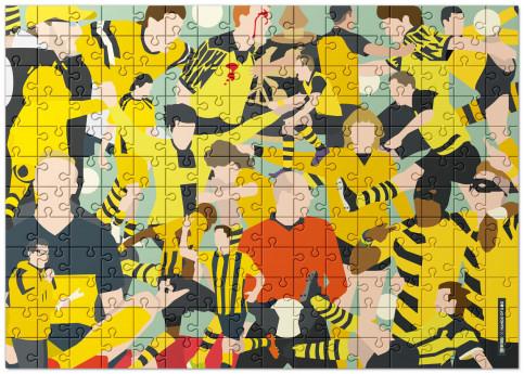 Puzzle: Dortmund Clash - Design: HANDS OF GOD mit 192, 551 und 1.500 Teilen