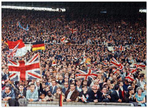 Puzzle: Fans beim WM Finale 1966