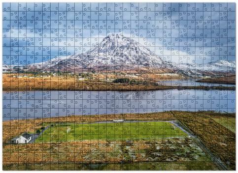 Puzzle: Fußballplatz im Glenveagh Nationalpark