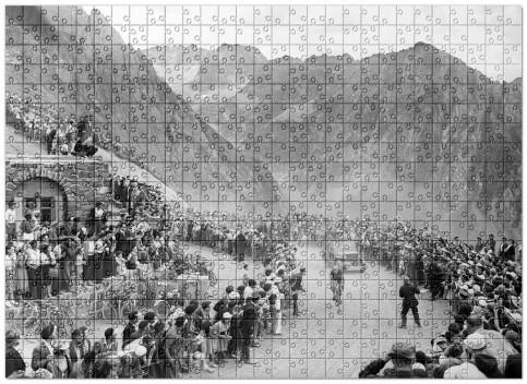 Puzzle: Am Col du Tourmalet bei der Tour 1950