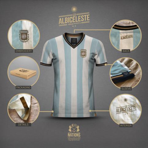 Argentina - La Albiceleste for Men - THE NATIONS designed by Emilio Sansolini - 11FREUNDE SHOP