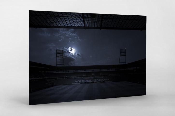 Stadien bei Nacht - Weserstadion (1) 11FREUNDE SHOP - Fußball Foto Wandbild Poster