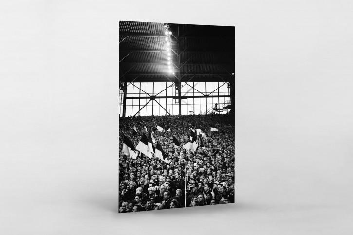 Gelbe Wand -Schwarzweiss (Hochformat 2) - 11FREUNDE SHOP - Fußball Wandbild BVB Borussia Dortmund