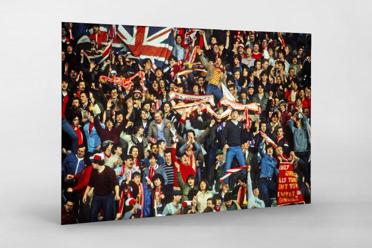 Liverpool Fans 1981 - Fußball Foto Wandbild - 11FREUNDE SHOP