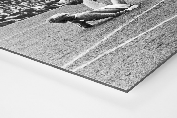 Synchron am Boden - 11FREUNDE SHOP - Fußball Foto Wandbild