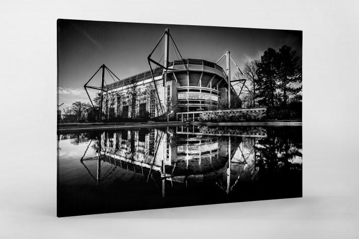 Blick auf den Signal Iduna Park (sw) - Fußball Foto Wandbild - 11FREUNDE SHOP