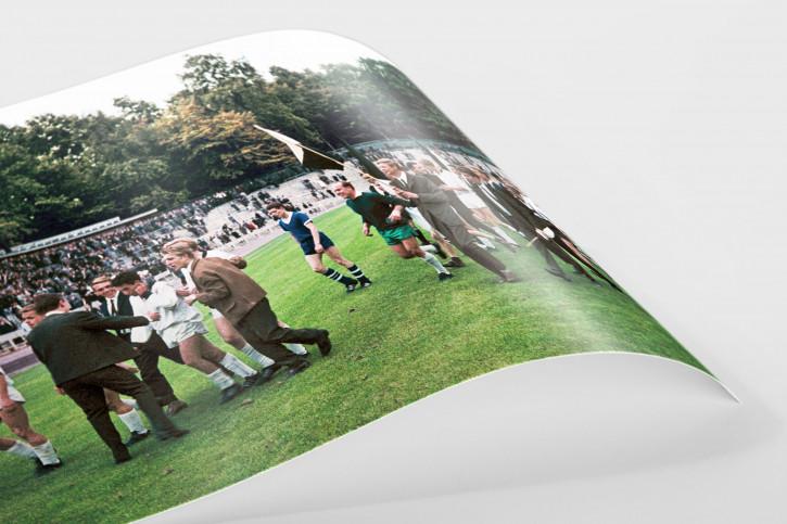 Gladbacher Jubel in Marl - 11FREUNDE SHOP - Fußball Foto Wandbild