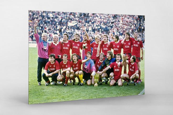 Lauterer Pokaljubel 1990 - Fußball Foto Wandbild - 11FREUNDE SHOP