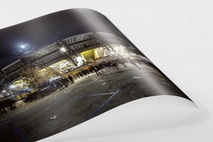 Stadio San Paolo bei Flutlicht (Farbe)
