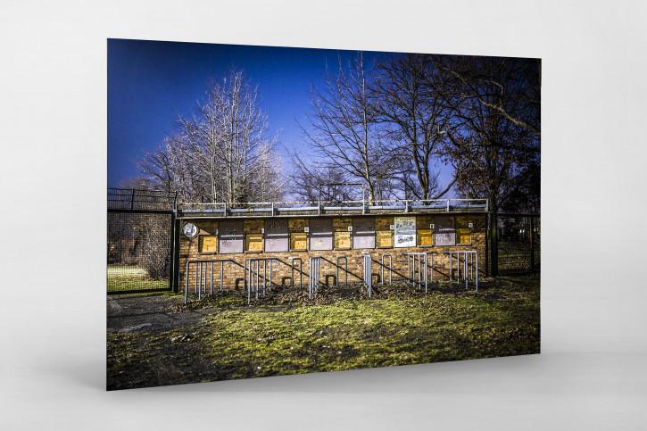 Kartenhäuschen Mommsenstadion - Sebastian Wells Foto als Wandbild - 11FREUNDE SHOP