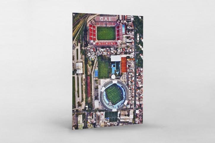 Vogelperspektive Nachbarstadien in Argentinien - Stadion Wandbild - 11FREUNDE SHOP