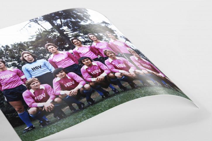 HSV in Rosa - 11FREUNDE SHOP - Wandbild Mannschaftsfoto