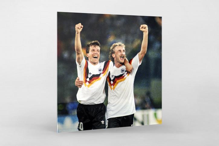 Lothar Matthäus Rudi Völler WM 1990 - 11FREUNDE BILDERWELT