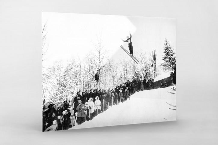 Skisprung in Chamonix - Sport Fotografie als Wandbild - Wintersport Foto - NoSports Magazin - 11FREUNDE SHOP