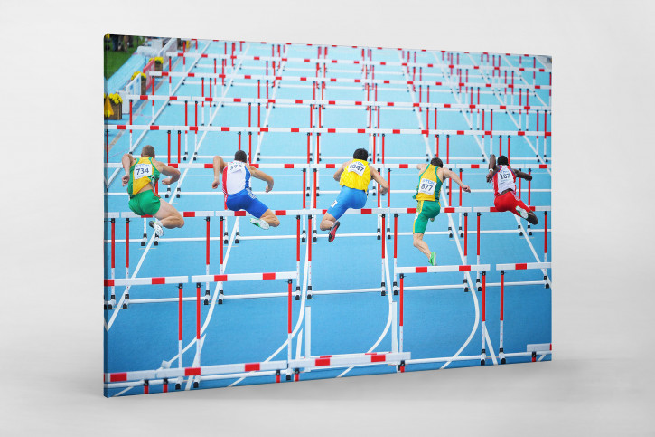 Die Herren und die Hürden - Sport Fotografien als Wandbilder - Leichtathletik Zehnkampf Foto - NoSports Magazin - 11FREUNDE SHOP