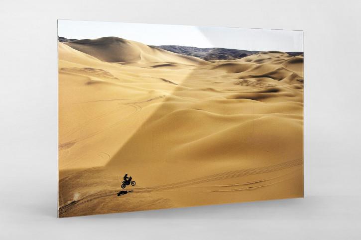 Motorrad im chilenischen Sand (1) - Sport Fotografien als Wandbilder - Rallye Foto - NoSports Magazin
