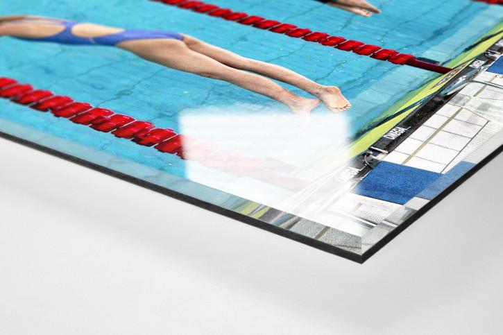 Kurz vor dem Eintauchen - Sport Fotos als Wandbilder - Schwimmen Foto - NoSports Magazin