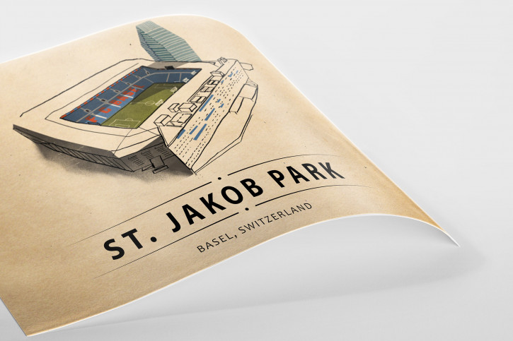 World Of Stadiums: St. Jakob Park - Poster bestellen - 11FREUNDE SHOP