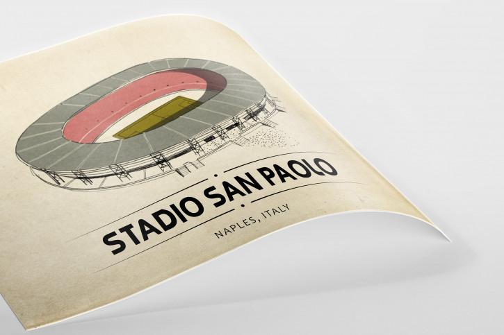 World Of Stadiums: Stadio San Paolo - Poster bestellen - 11FREUNDE SHOP