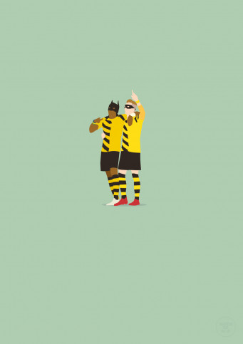 Batman und Robin - Borussia Dortmund Poster - 11FREUNDE SHOP