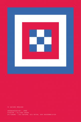 Pixel Lookalike: Bayern - Poster bestellen - 11FREUNDE SHOP