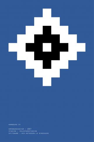 Pixel Lookalike: Hamburg - Poster bestellen - 11FREUNDE SHOP