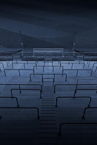 Stadien bei Nacht - Borussia Park (2) - 11FREUNDE SHOP - Fußball Foto Wandbild