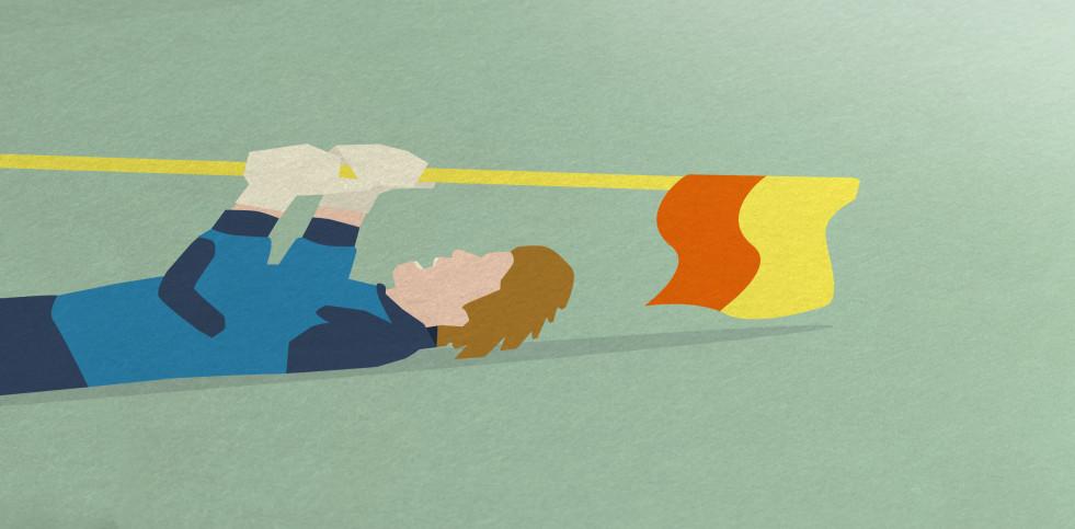 Titan und Eckfahne - Fußball Illustration Poster - Hands Of God x 11FREUNDE
