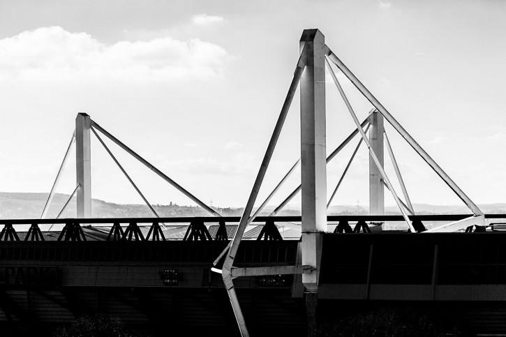 Dach des Signal Iduna Parks - 11FREUNDE SHOP - Fußball Foto Wandbild