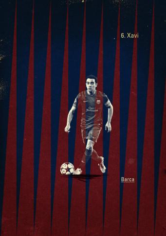 Xavi - Poster bestellen - 11FREUNDE SHOP