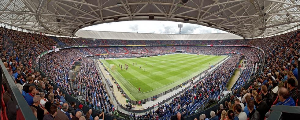 Rotterdam - Stadion Wandbild Feyenoord-Stadion (De Kuip) - 11FREUNDE SHOP