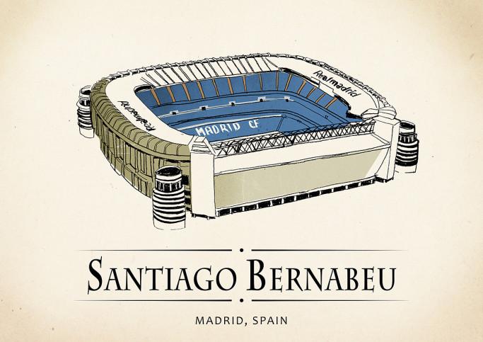 World Of Stadiums: Bernabéu - Poster bestellen - 11FREUNDE SHOP