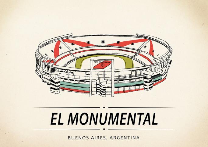 World Of Stadiums: El Monumental - Poster bestellen - 11FREUNDE SHOP