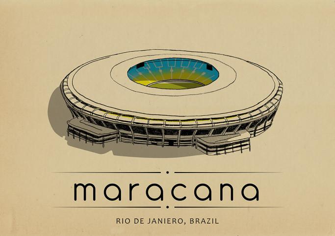 World Of Stadiums: Maracana - Poster bestellen - 11FREUNDE SHOP
