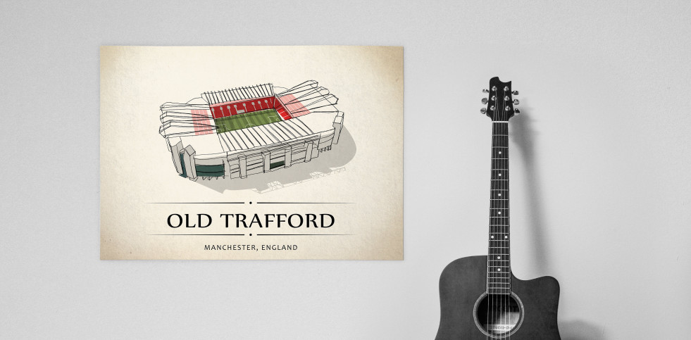 World Of Stadiums: Old Trafford - Poster bestellen - 11FREUNDE SHOP