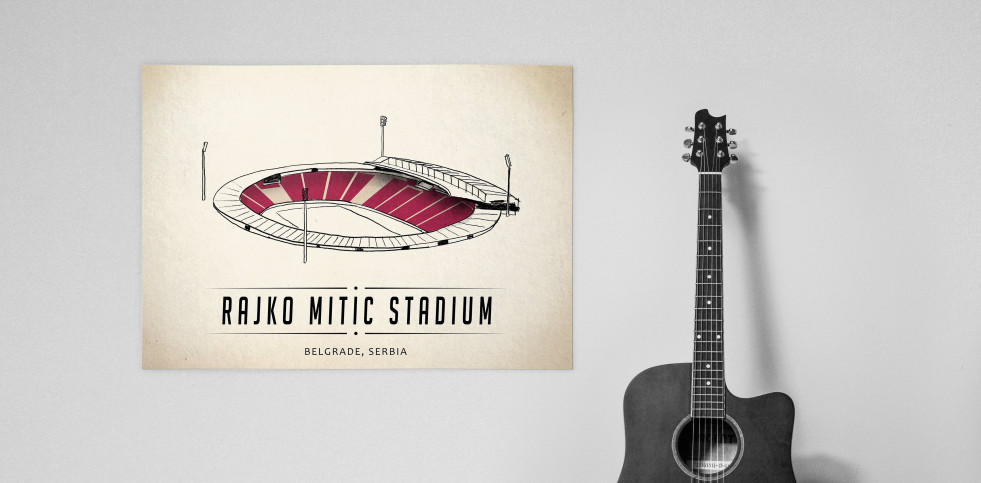 World Of Stadiums: Rajko Mitić Stadium - Poster bestellen - 11FREUNDE SHOP