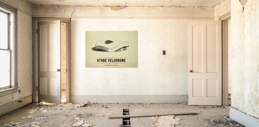 World Of Stadiums: Stade Vélodrome - Poster bestellen - 11FREUNDE SHOP